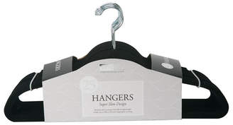 Simplify 25 Pack Slim Velvet Suit Hangers in Black
