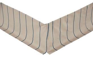 Ashton & Willow Greige Slate Tan Farmhouse Bedding Charlotte Cotton Linen Blend Split Corners Tailored Striped Queen Bed Skirt
