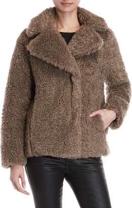 Kensie Reversible Short Teddy Bear Coat