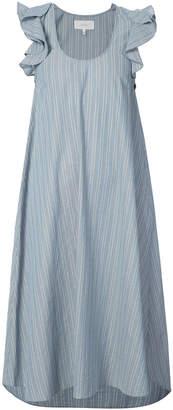 The Great striped midi dress