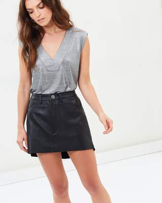 One Teaspoon Leather Vanguard Skirt