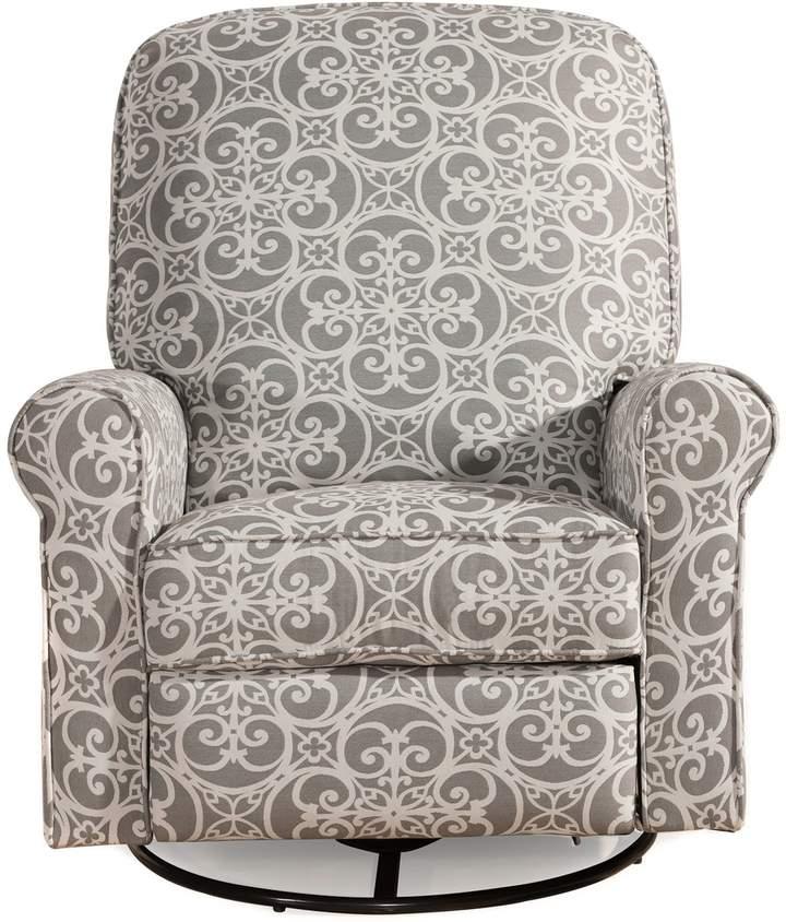Pulaski Glider Recliner Comfort Chair in Doodles Ash