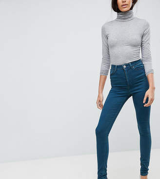 Asos Tall Ridley High Waist Skinny Jeans In Delyth Green Cast