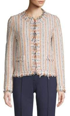 Tory Burch Hollis Frayed Cardigan