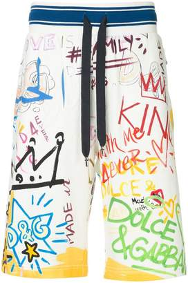 Dolce & Gabbana Dubai graffiti printed swim shorts
