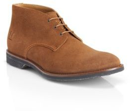 HUGO BOSS Arizar Washed Suede Leather Chukka