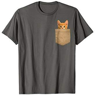 Orange Cat Shirt Kitty Cat in my your Pocket Shirt Gift