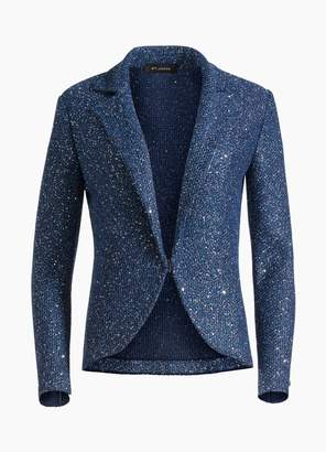 St. John Luxe Sequin Tuck Knit Jacket