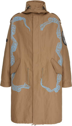 Givenchy Hooded Printed Cotton-Twill Parka