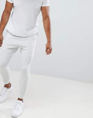 Pull&Bear Piqu Joggers In Light Grey