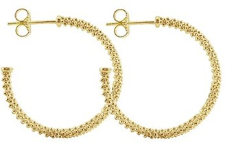 Women's Lagos 'Caviar Gold' Hoop Earrings $1,150 thestylecure.com