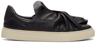 Ports 1961 Black Bow Slip-On Sneakers