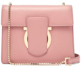 Salvatore Ferragamo Thalia Leather Cross Body Bag - Womens - Light Pink