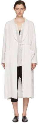 Raquel Allegra White Robe Trench Coat