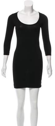Hatch Three-Quarter Sleeves Dress