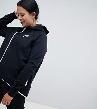 Nike Plus Black Dip Hem Hooded Jacket