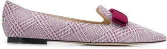 Jimmy Choo bow ballerina slippers