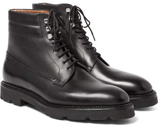John Lobb Alder Leather Derby Boots - Black