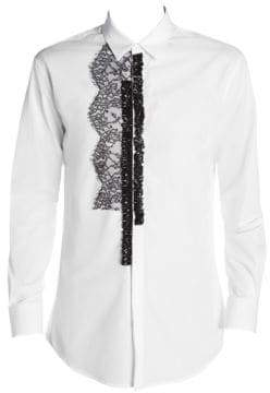 DSQUARED2 Poplin Lace Embellished Shirt