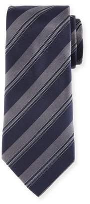 Armani Collezioni Wide Rep-Stripe Tie