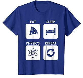 Eat Sleep Physics Repeat Chemistry Science Funny Tee