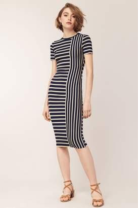 930310c98a Next Womens Oasis Blue Spliced Stripe Tube Dress