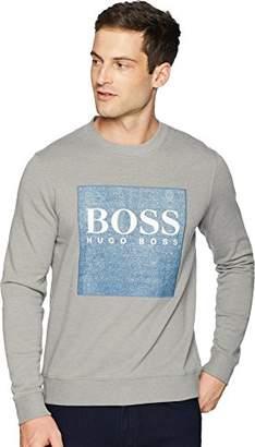 HUGO BOSS BOSS Orange Men's Wedford Denim Terry Sweatshirt with Logo