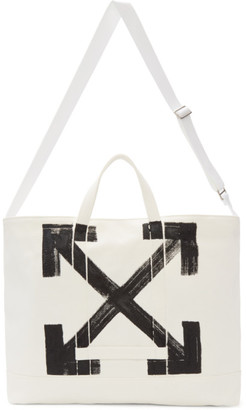 Off-White White Brushed Arrows Tote $440 thestylecure.com