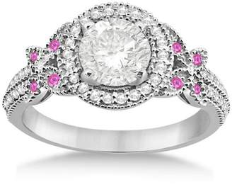 Victoria's Secret Allurez Unqiue Diamond and Natural Sapphire Butterfly Engagement Ring 14k White Gold (0.35ct) GH