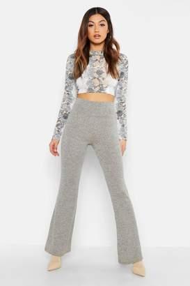 boohoo Cut + Sew Fit & Flare Pants