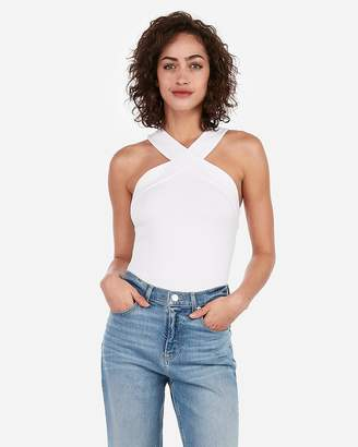 Express One Eleven X Front Halter Top