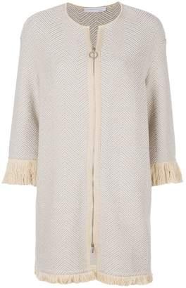 Fabiana Filippi fringed longline jacket