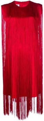MM6 MAISON MARGIELA fringed shift dress