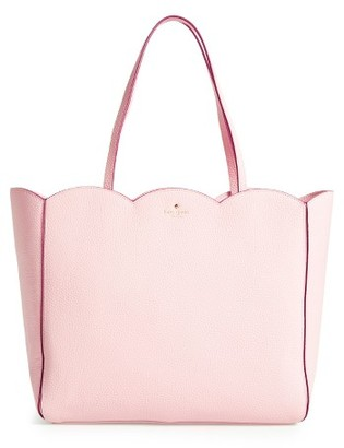 Kate Spade New York Leewood Place - Rainn Leather Tote - Pink $328 thestylecure.com