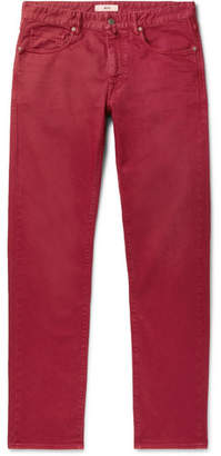 Incotex Slim-fit Garment-dyed Cotton-blend Twill Chinos - Red