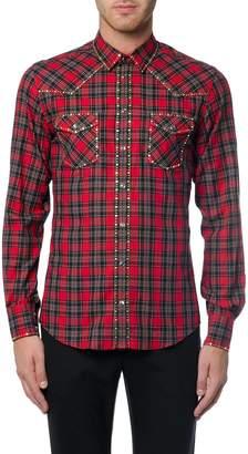 Dolce & Gabbana Cotton Western Checked Shirt