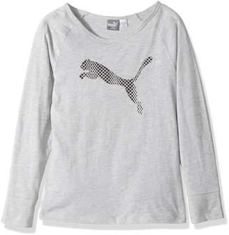Puma Little Girl's Girls' Long Sleeve T-shirt and Headband Shirt