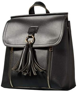 Yumi Black Tassel And Zip Backpack