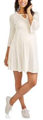 N. The Miss Group Maternity 3/4 Length Sleeve Fit Flare Dress