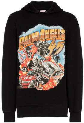 Palm Angels 'Palm Car Crash' logo hoodie