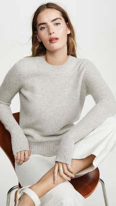 White + Warren Slim Thermal Cashmere Crew Neck Pullover