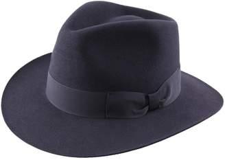 Classic Italy Heritage Fedora Wool Felt Fedora Hat Size 55 cm Blue