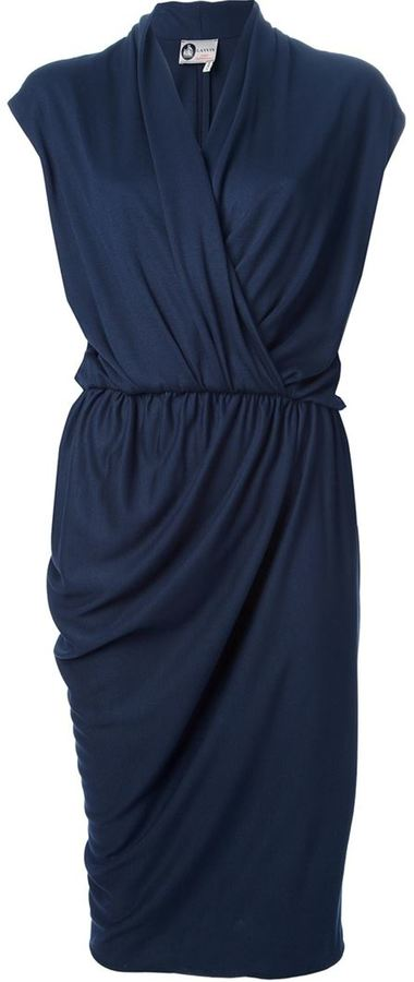 Lanvin draped wrap dress