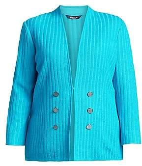 Misook Misook, Plus Size Misook, Plus Size Women's Texture Button Jacket