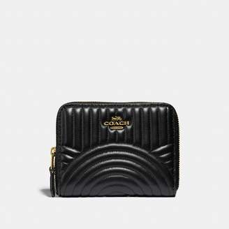 Coach Small Zip Around Wallet With Deco Quilting