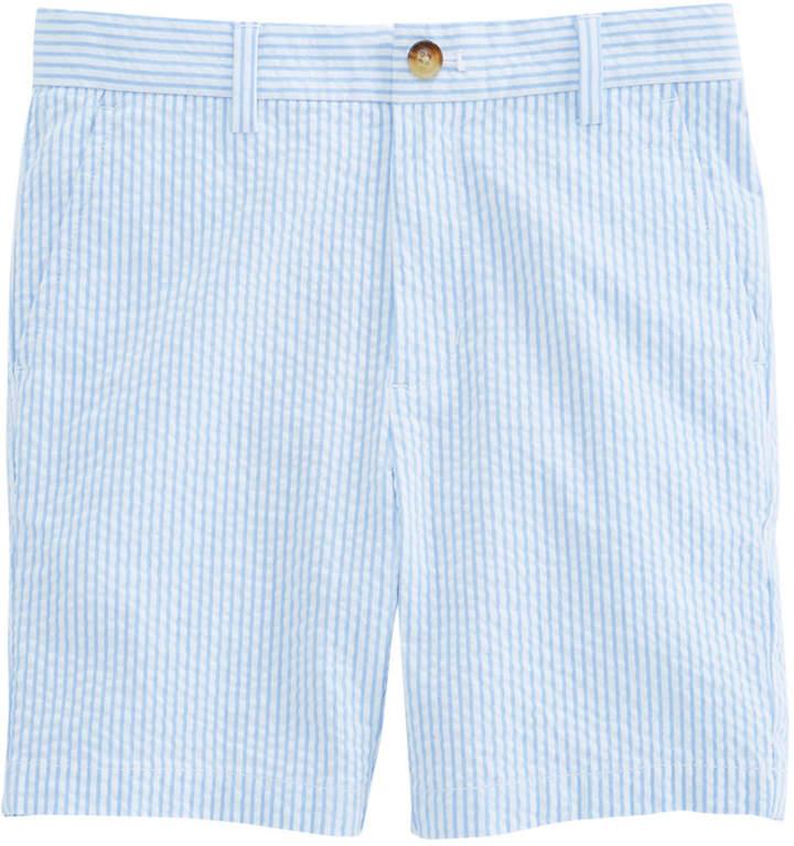 Boys Seersucker Stripe Breaker Shorts