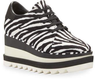 Stella McCartney Elyse Zebra-Print Sneakers