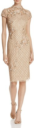Adrianna Papell Embellished Lace Dress $299 thestylecure.com