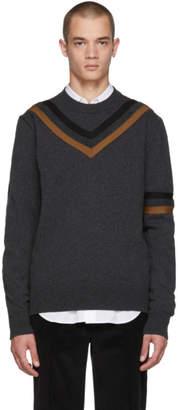 Stella McCartney Grey Striped Crewneck Sweater