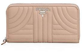 Prada Women's Diagramme Leather Zip-Around Wallet